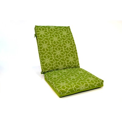 2 Sided Geometric High Back Outdoor Lounge Chair Cushion