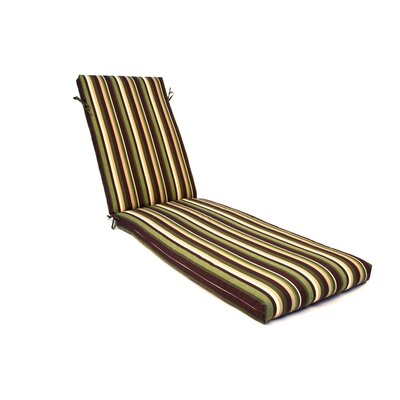 Stripe Outdoor Chaise Lounge Cushion