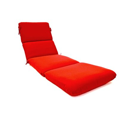 Canvas Outdoor Sunbrella Chaise Lounge Cushion Fabric: Jockey Red