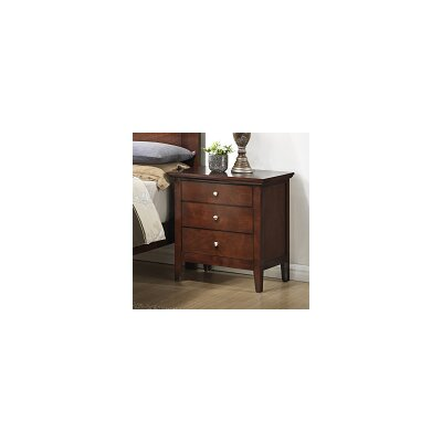 Sharpsburg 3 Drawer Nightstand Finish: Brown