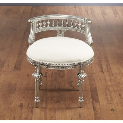 Hurst Hand Carved Side Chair Color: Silver