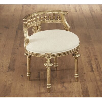 Hurst Hand Carved Barrel Chair Color: Gold