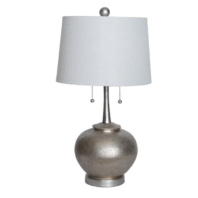Hammered Resin 29 Table Lamp with Drum Shade