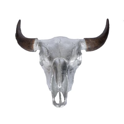 Buffalo Skull Bust Color: Silver Leaf