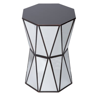 Tricia Mirrored End Table