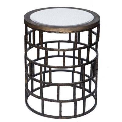 Geoffrey Mirrored End Table