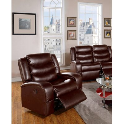 Eden Chair Recliner Upholstery: Brown