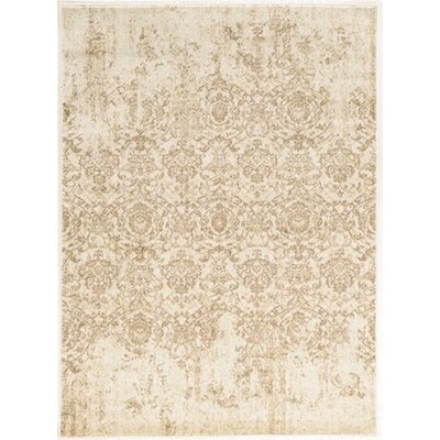 Becket Bone Area Rug Rug Size: 3'3