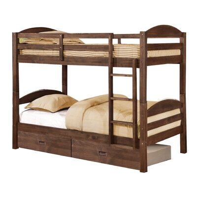 Ralph Twin Bunk Bed with Drawers Finish: Chestnut