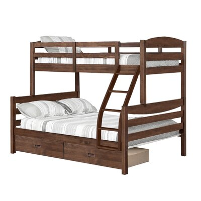 Dendron Twin Over Full Bunk Bed with 2 Drawers Finish: Chestnut