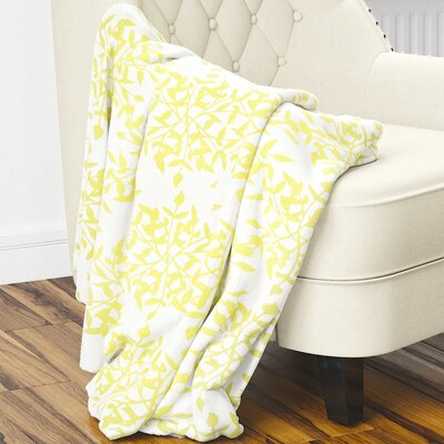 Palmyra Fleece Blanket Size: 80 L x 60 W, Color: Yellow