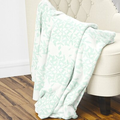 Palmyra Fleece Blanket Size: 60 L x 50 W, Color: Green