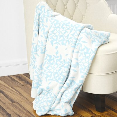 Palmyra Fleece Blanket Size: 40 L x 30 W, Color: Blue