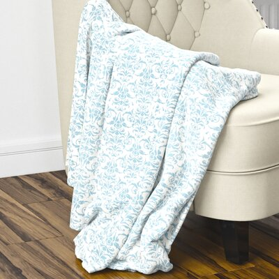 Diana Fleece Blanket Color: Blue, Size: 80 L x 60 W