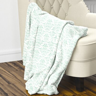 Diana Fleece Blanket Size: 40 L x 30 W, Color: Green