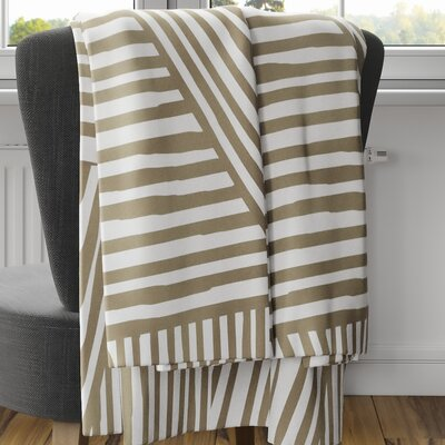 Orion Fleece Blanket Color: Brown, Size: 80 L x 60 W
