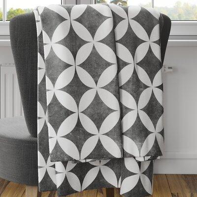Persephone Fleece Blanket Size: 80 L x 60 W, Color: Black
