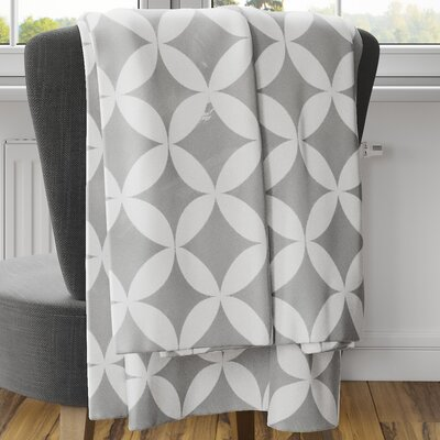 Persephone Fleece Blanket Size: 80 L x 60 W, Color: Gray