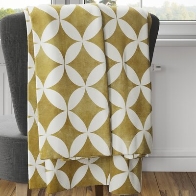 Persephone Fleece Blanket Color: Mustard, Size: 40 L x 30 W