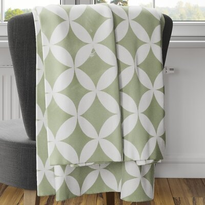 Persephone Fleece Blanket Color: Green, Size: 60 L x 50 W