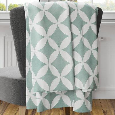 Persephone Fleece Blanket Size: 60 L x 50 W, Color: Teal