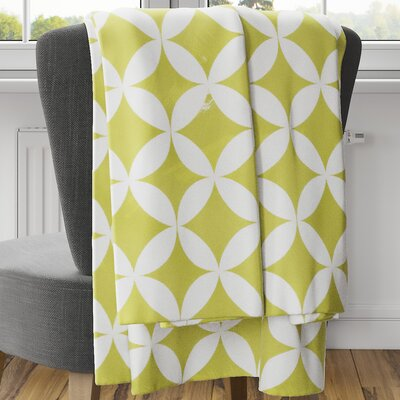 Persephone Fleece Blanket Size: 80 L x 60 W, Color: Yellow