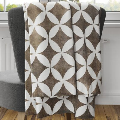 Persephone Fleece Blanket Size: 80 L x 60 W, Color: Brown
