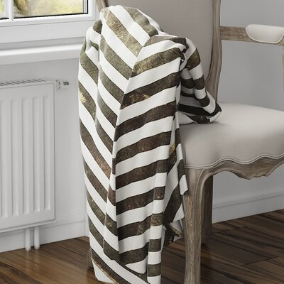 Mellina Fleece Blanket Color: Brown, Size: 60 L x 50 W