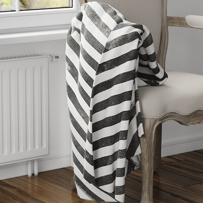 Mellina Fleece Blanket Size: 80 L x 60 W, Color: Black