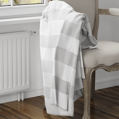 Ophelie Fleece Blanket Size: 80 L x 60 W, Color: Gray