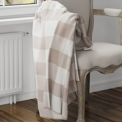 Ophelie Fleece Blanket Color: Pink, Size: 60 L x 50 W