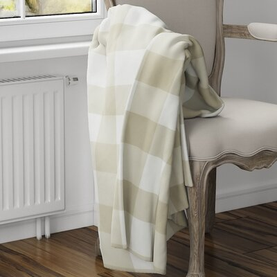 Ophelie Fleece Blanket Size: 40 L x 30 W, Color: Yellow