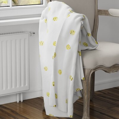 Victoire Fleece Blanket Color: Yellow, Size: 80 L x 60 W