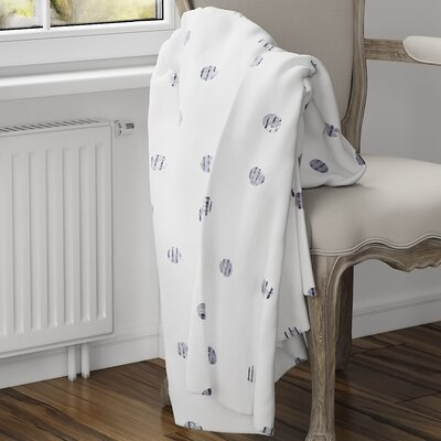 Victoire Fleece Blanket Size: 60 L x 50 W, Color: Purple