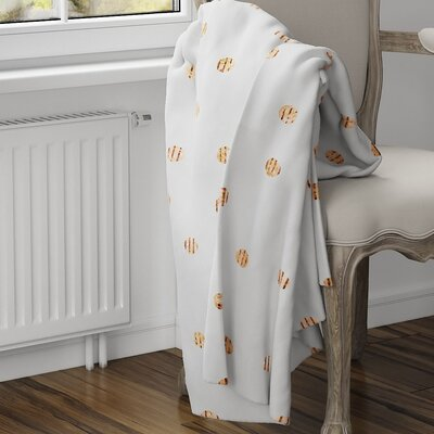 Victoire Fleece Blanket Size: 40 L x 30 W, Color: Orange