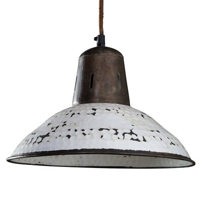 Sharice 1-Light Inverted Pendant Shade Color: White