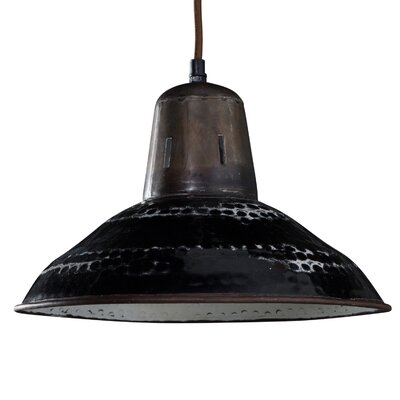 Derrick 1-Light Inverted Pendant Shade Color: Black
