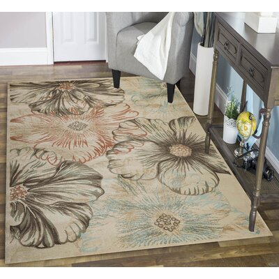 Garda Beige/Brown Area Rug Rug Size: Runner 22 x 77