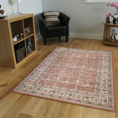 Garda Brown/Red Area Rug Rug Size: 33 x 411