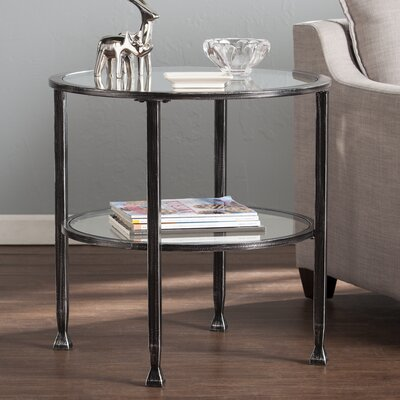 Casas Round End Table Finish: Black