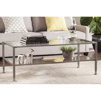 Casas Rectangular Coffee Table Finish: Silver
