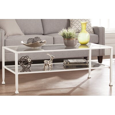 Casas Rectangular Coffee Table Color: White