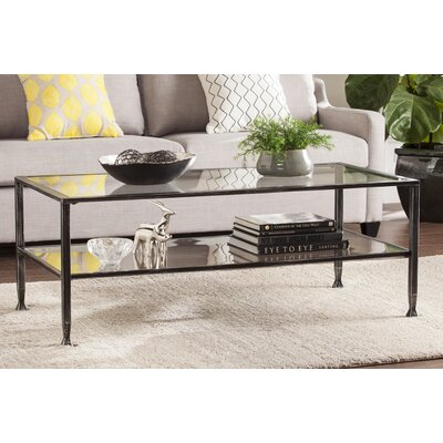 Casas Rectangular Coffee Table Finish: Black