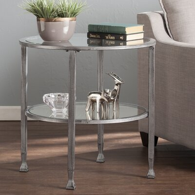 Casas Round End Table Color: Silver