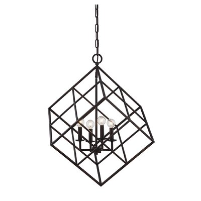 Glendale 4-Light Mini Pendant Finish: English Bronze