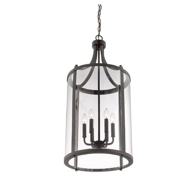Brookville 6-Light Medium Foyer Lantern Finish: English Bronze