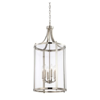 Brookville 6-Light Medium Foyer Lantern Finish: Polished Nickel