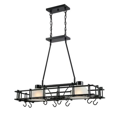 2-Light Chandelier Pot Rack