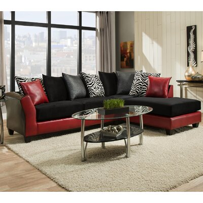 Herzog Sectional Color: Red