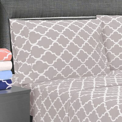 Amalia Pillowcase Color: Gray, Size: Standard